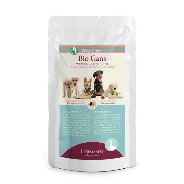 Herrmann's  Puppy Organic Goose with Spinach and Potatoes 400 g, 150 g