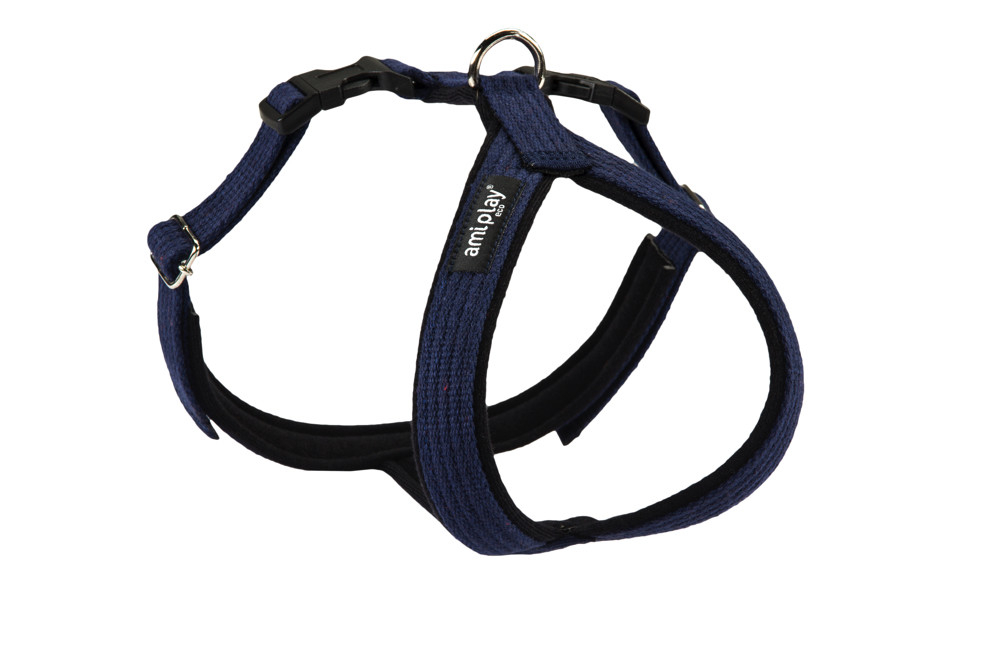 Adjustable Cotton Harness Grand Soft, Navy Blue Marinblå L från Amiplay köp billiga på nätet