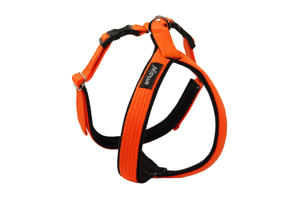 Amiplay Adjustable Cotton Harness Grand Soft, Orange  Orange L