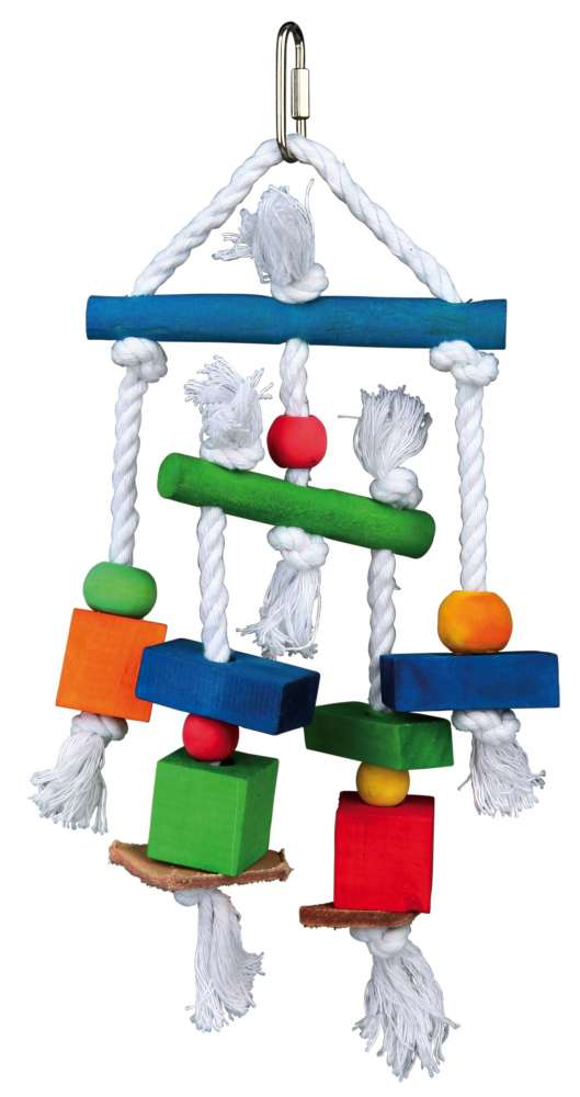 Wooden Toy on a Rope, Colourful 24 cm  from Trixie