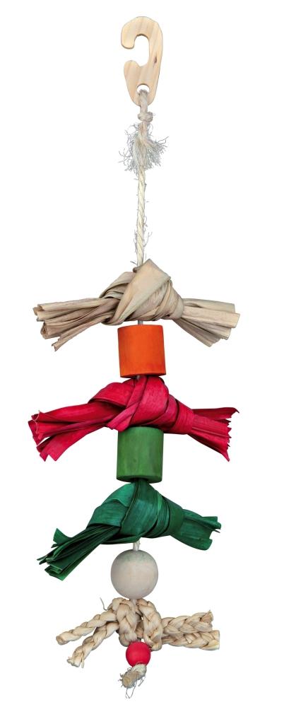 Trixie Gioco Naturale con Corda in Sisal, con Foglia di Palma Multicolore 38 cm acquista comodamente