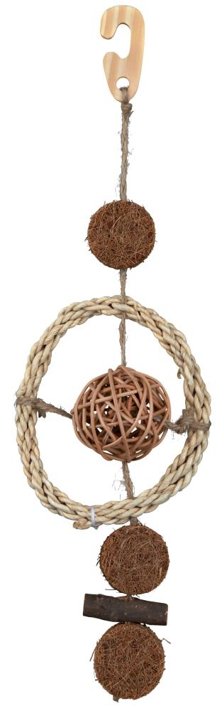 Brinquedo Natural com Corda de Sisal, Coco Castanho 35 cm da Trixie Compre a bom preço com desconto