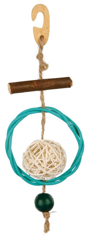 Naturspielzeug am Sisalseil mit Weide 22 cm  von Trixie