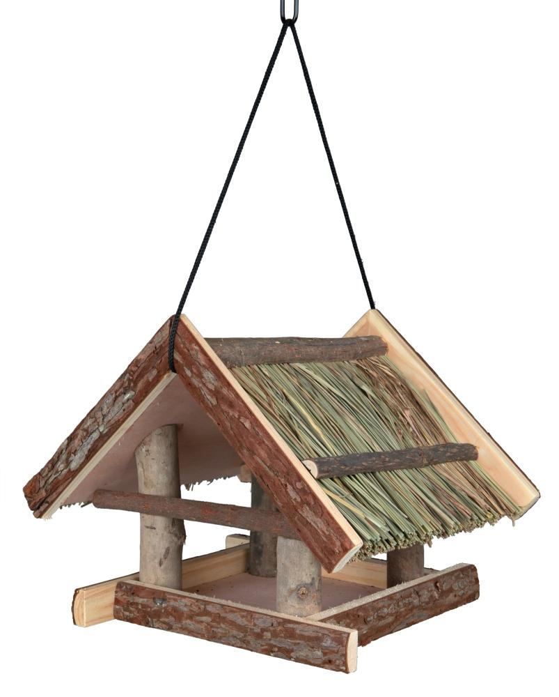 Natural Living Comedouro para Pássaros para Pendurar, Erva Castanho 25×25×25 cm da Trixie Compre a bom preço com desconto