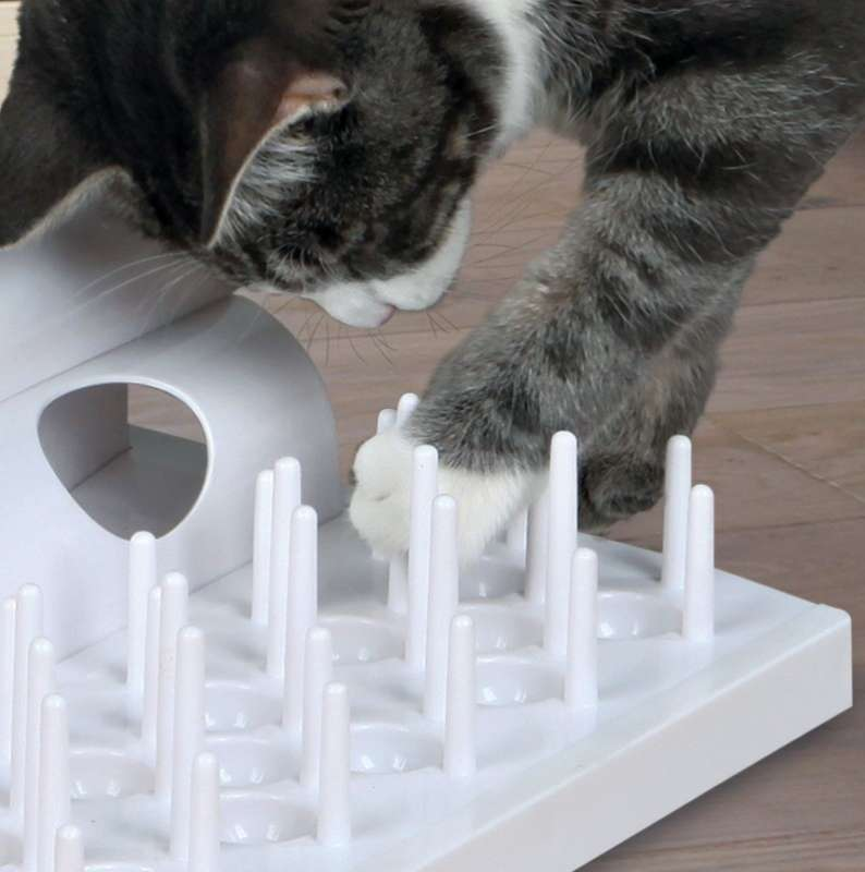 Trixie Cat Activity Domino Basis-Set Strategiespiel  Weiß 32×30 cm