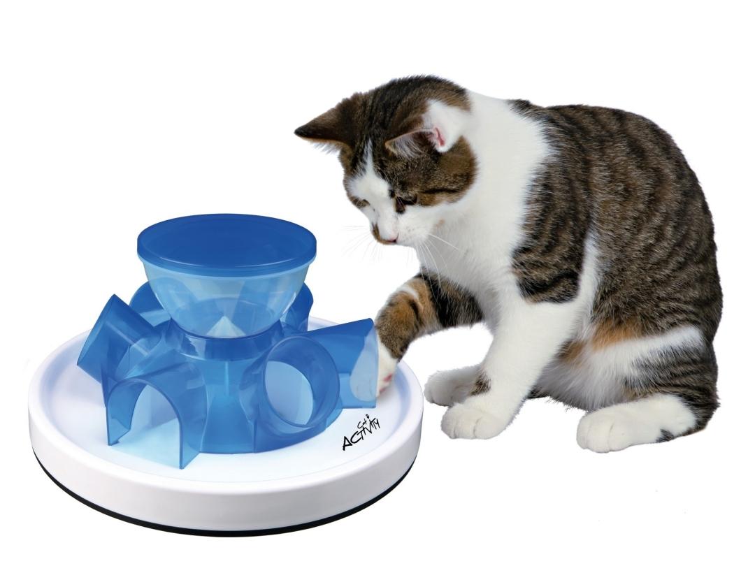trixie cat activity tunnel feeder jeux de strat gie 28 14 cm jouets distributeurs de croquettes. Black Bedroom Furniture Sets. Home Design Ideas
