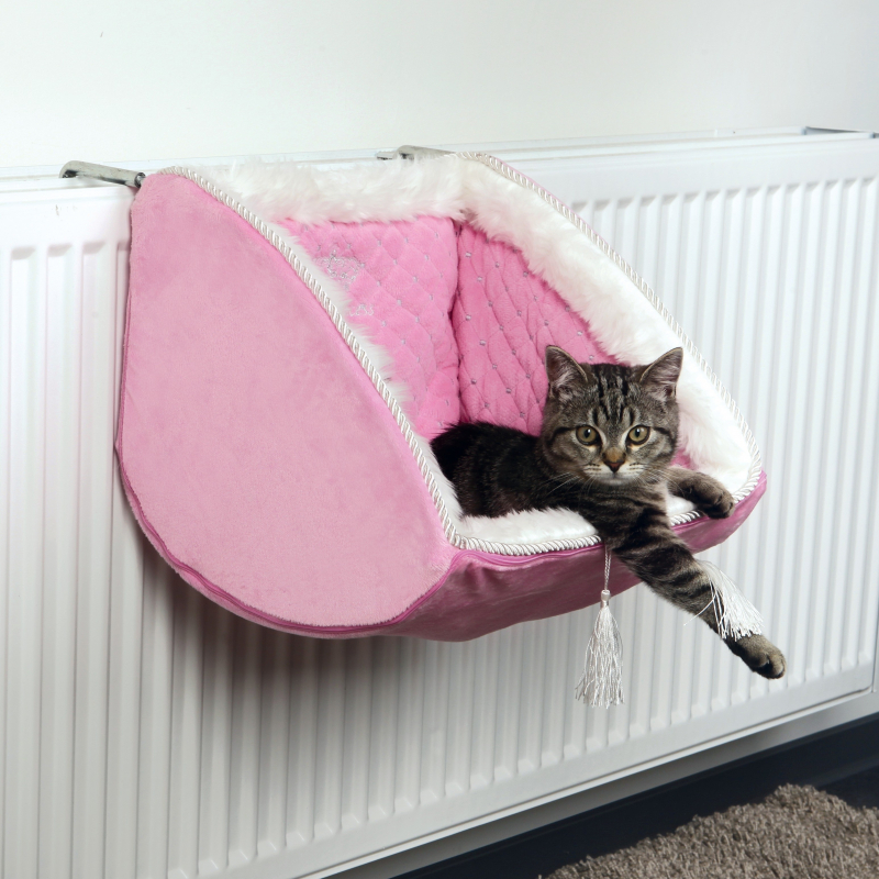 Cat Princess Radiator Bed Pink 38x30x38 cm from Trixie