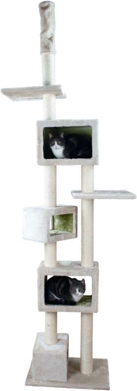 Trixie Tamaso Scratching Post, floor to ceiling  Lysegrå 57×40×240-260 cm