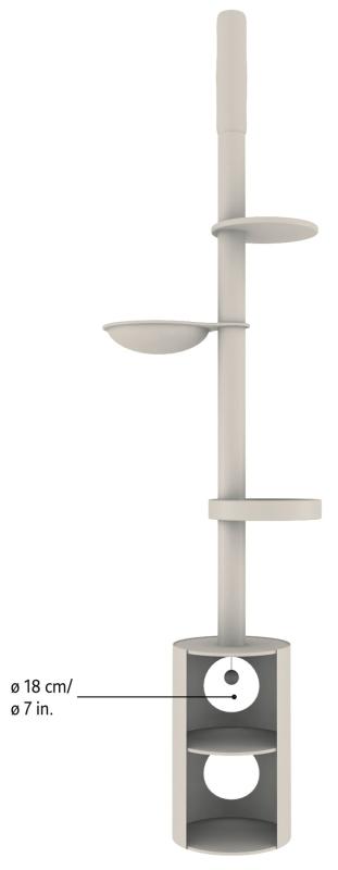 Trixie Linea Scratching Post, floor to ceiling  Mørkebrun ø38/225-265 cm