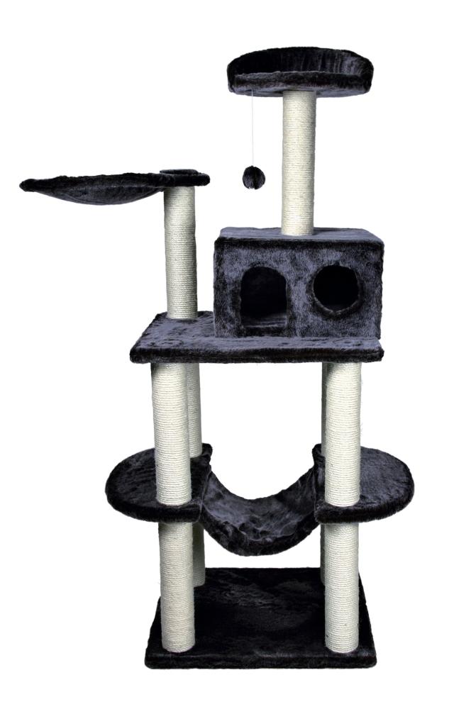 Tarragona Scratching Post Mörkgrå 62x52x162 cm från Trixie köp billiga på nätet