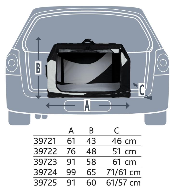 Trixie Transportín Vario  61x43x46 cm Negro