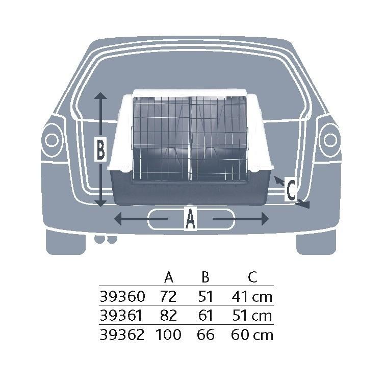 Trixie Transportín Traveller 72x51x41 cm Gris oscuro