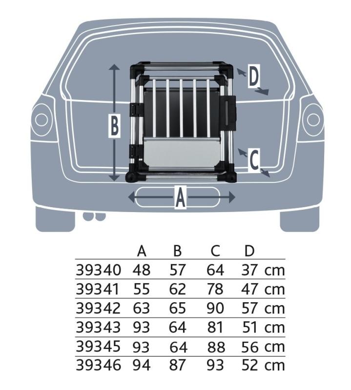 Trixie Dubbele Vervoersbox  93x64x88 cm