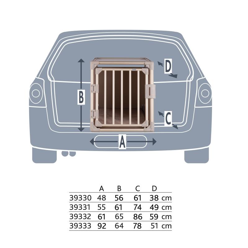Trixie Vervoersbox  48x56x61 cm Lichtbruin