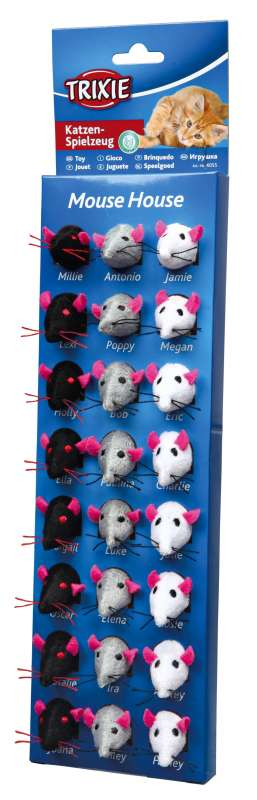Trixie Assortimento Mouse House in Peluche 4011905405513 opinioni