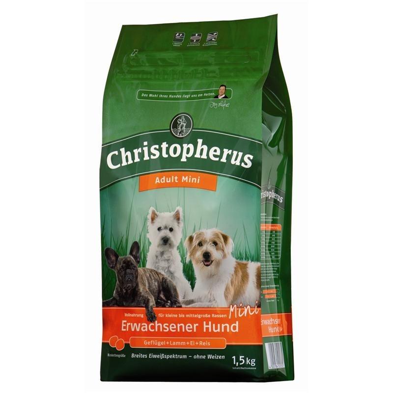 Christopherus Chien Adulte Mini – Volaille, Agneau, Œuf & Riz 1.5 kg, 4 kg