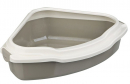 Pedro Corner Cat Litter Tray with Rim 55x16x42/42 cm