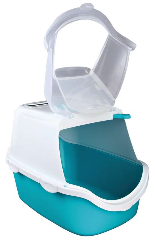 Trixie Vico Easy Clean Litter Tray, with Hood  Aqua 40x40x56 cm