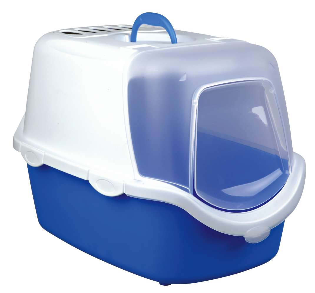 Trixie Vico Easy Clean Litter Tray, with Hood  Blå 40x40x56 cm