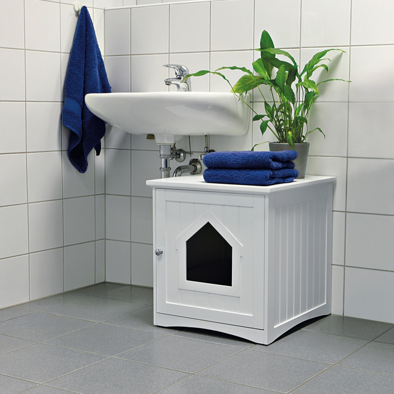 Trixie Casa para Gatos, Blanca 49x51x51 cm