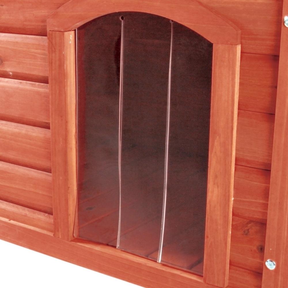 Trixie Puerta de Plástico para Caseta Perros Classic 22x35 cm Marrón