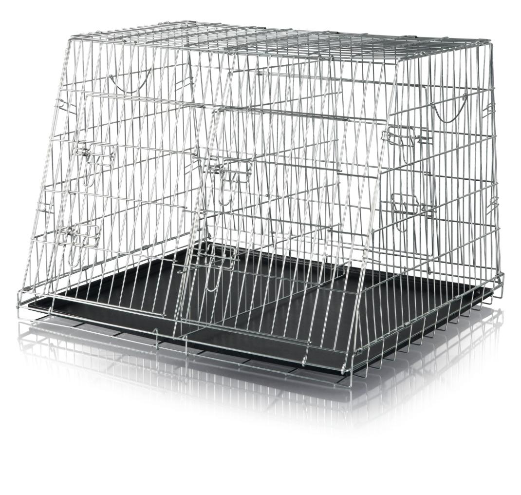 Trixie Hondenbench, gegalvaniseerd, dubbel 90×64×79 cm  met korting aantrekkelijk en goedkoop kopen