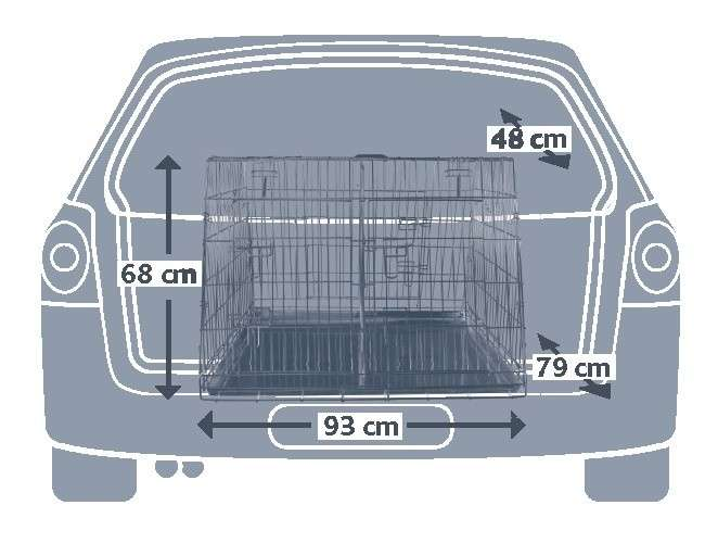 Trixie Cage de Transport, Galvanisée, Double  90x64x79 cm