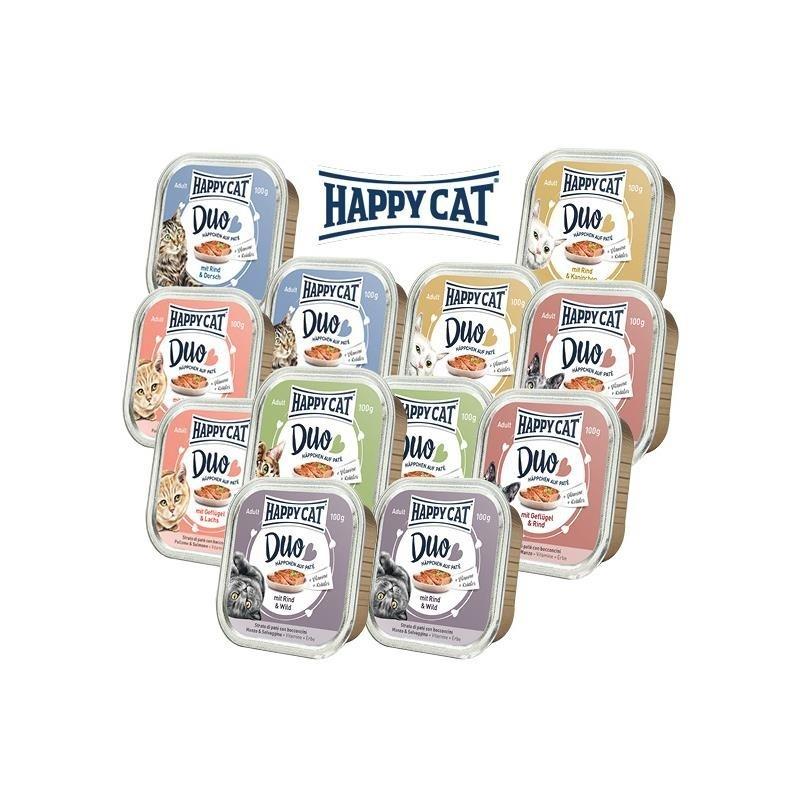 Happy Cat Duo Nourriture Humide 12x100 g