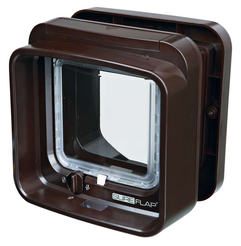 Trixie SureFlap Dual Scan Cat Flap with Microchip Identification Brown  buy online