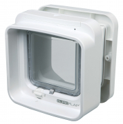 SureFlap Dual Scan Cat Flap with Microchip Identification Hvid