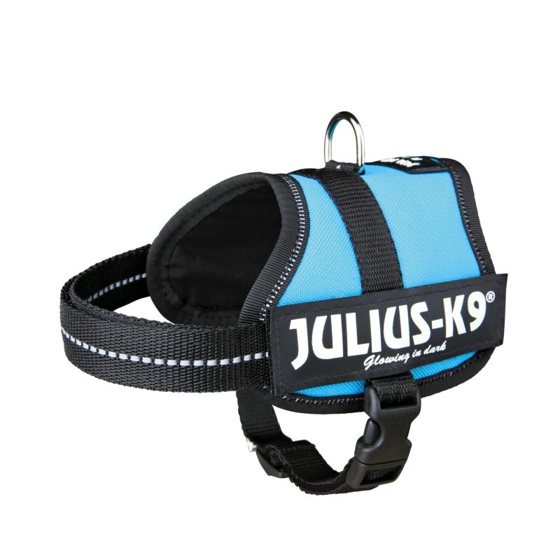 Julius K9 Powerharness, Baby 2/XS-S  Lyse blå XS-S