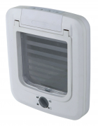 4-Way Cat Flap Hvid