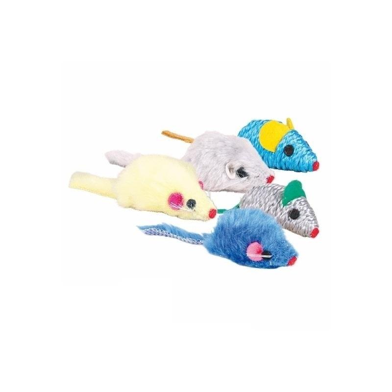 Trixie Ratones de peluche y nylon 5 cm