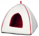 Noria Cuddly Cave, white/salmon red 40x38x38 cm