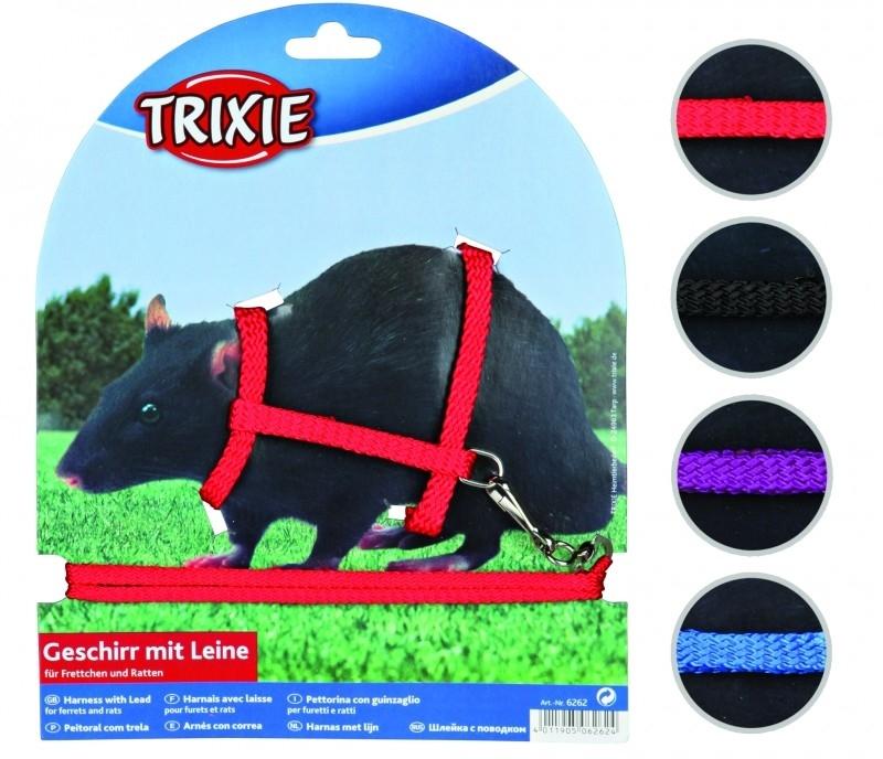 Trixie Geschirr mit Leine für Frettchen und Ratten 12-25/0.8 cm