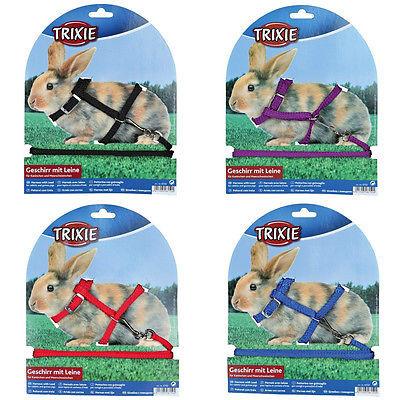 Trixie Kaninchengeschirr mit Leine, Nylon 25-44/0.8 cm