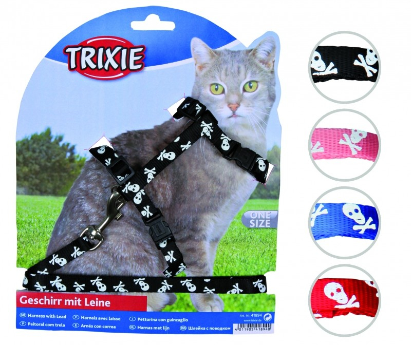 Cat Harness with Leash, Nylon 27-45/1 cm  från Trixie köp billiga på nätet
