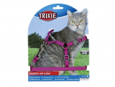Trixie Arnés One Touch con Correa, Nylon 26-37/1 cm