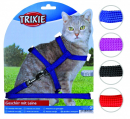 Trixie Cat Harness with Leash, Nylon 22-42/1 cm