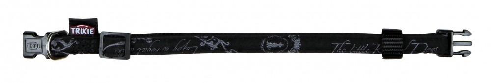 Trixie Modern Art Halsband King of Dogs Elegance  Zwart XS-S