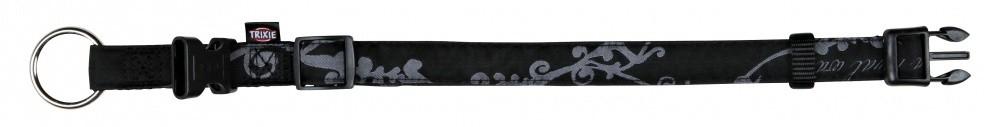Trixie Modern Art Halsband King of Dogs Elegance  Zwart M-L