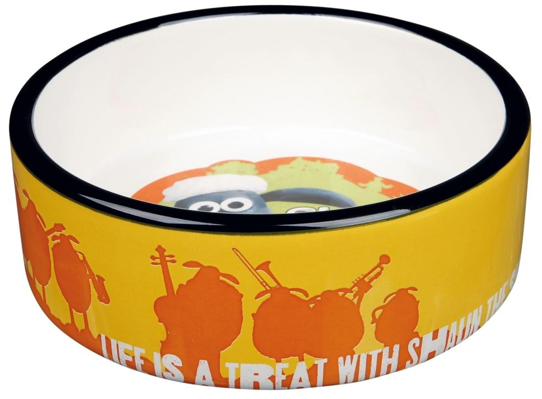 Trixie Shaun het Schaap Keramische Voer/Waterbak Oranje 300 ml met korting aantrekkelijk en goedkoop kopen