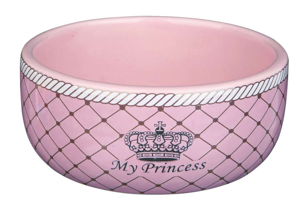 Trixie My Princess Keramische Voer/Waterbak  80 ml Roze