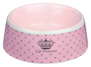 Trixie Cat Princess Ceramic Bowl, pink