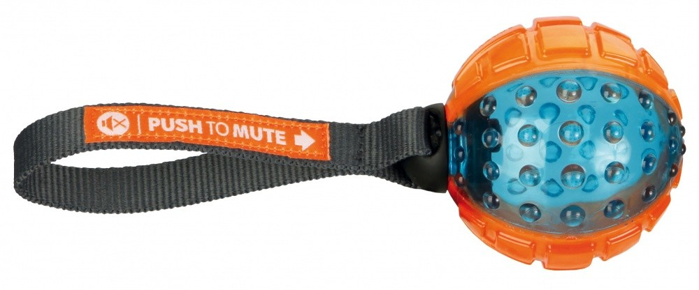 Trixie Push to Mute Rugbybal, TPR, ø12/27 cm