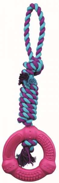 Denta Fun Playing Rope, Natural Rubber, ø12/41 cm Rope with Ring   from Trixie