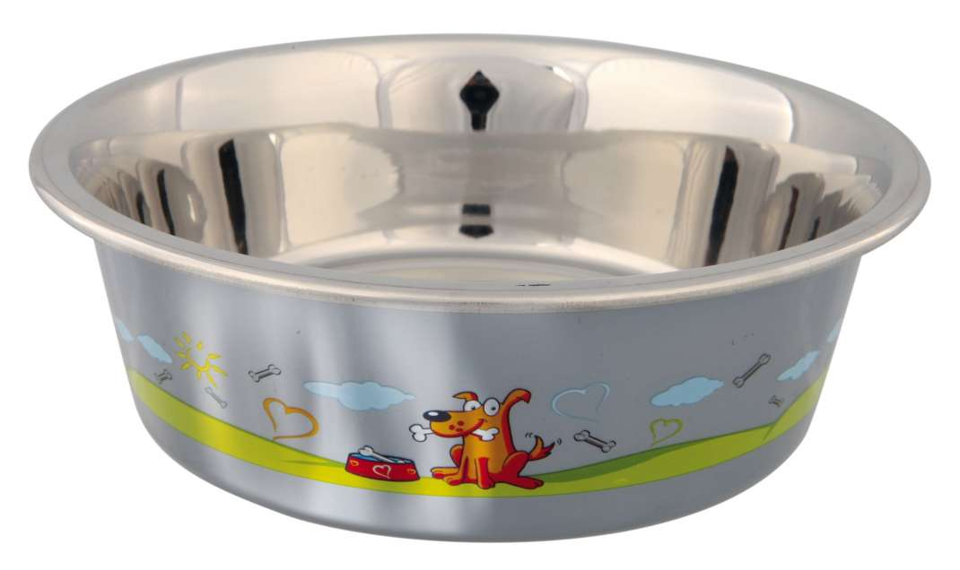 Trixie RVS Voer/Waterbak met kunststof Coating 900 ml  met korting aantrekkelijk en goedkoop kopen