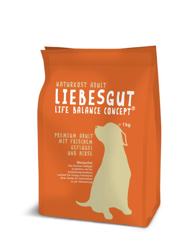 Liebesgut Premium Adult com Carne fresca de Aves de Capoeira e Milhete 4059308300073 opinião
