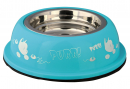 "Trixie Stainless Steel Bowl with Plastic Holder, Purr!"" 250 ml"
