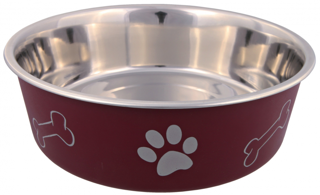 Trixie Edelstahlnapf mit Kunststoffmantel 1.5 l 21 cm